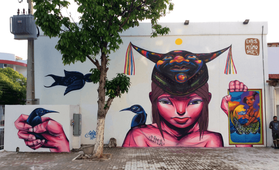 street art mural by Entes y Pésimo