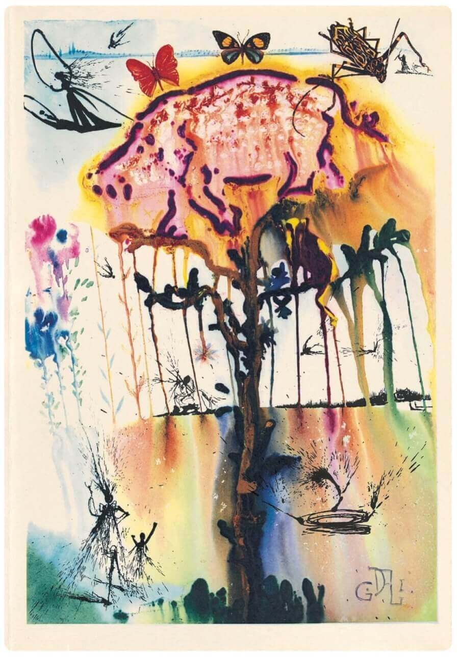 Alice in Wonderland illustrations by Salvador Dali