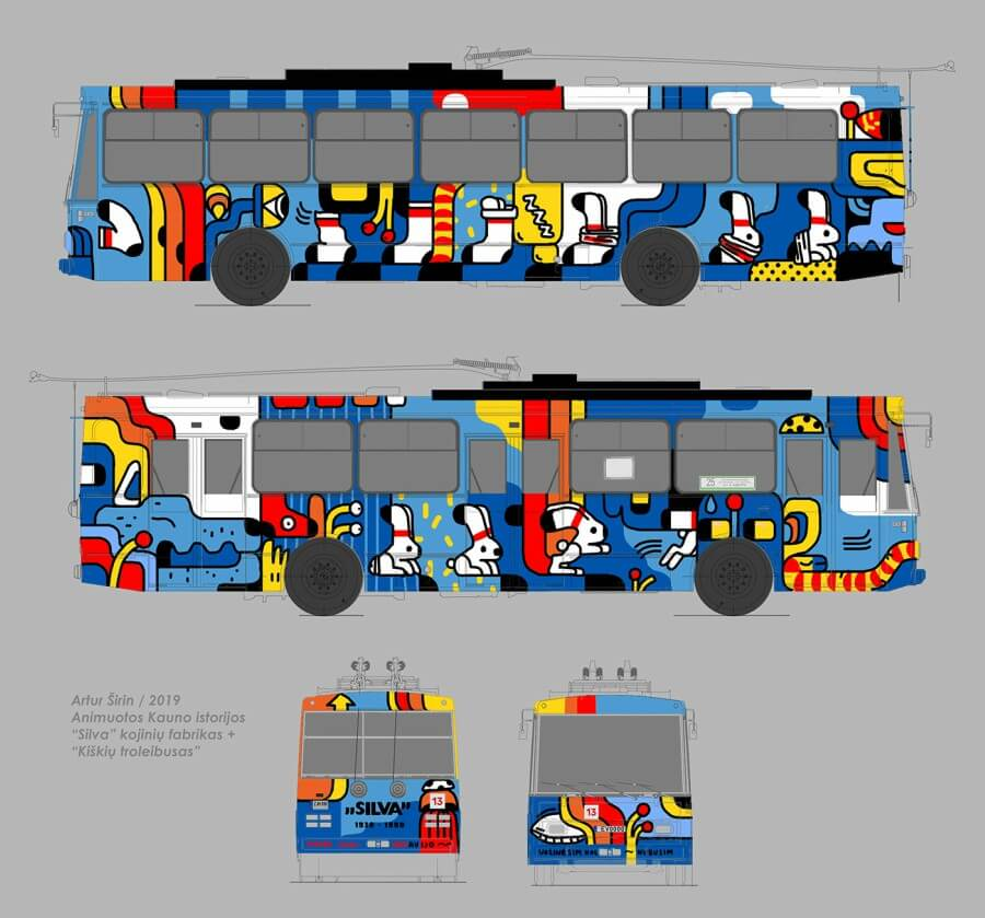 autobus pintado