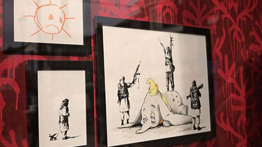 obras de Banksy en la Gross Domestic product