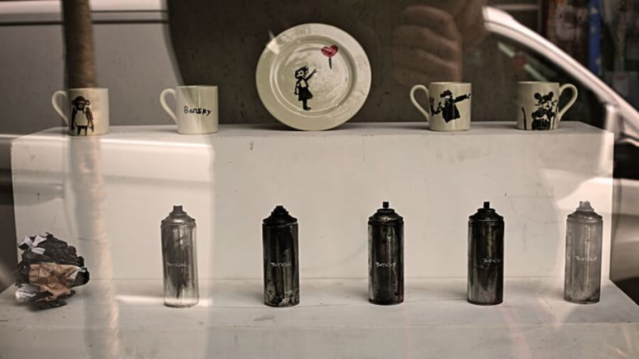 obras de Banksy en la Gross Domestic product