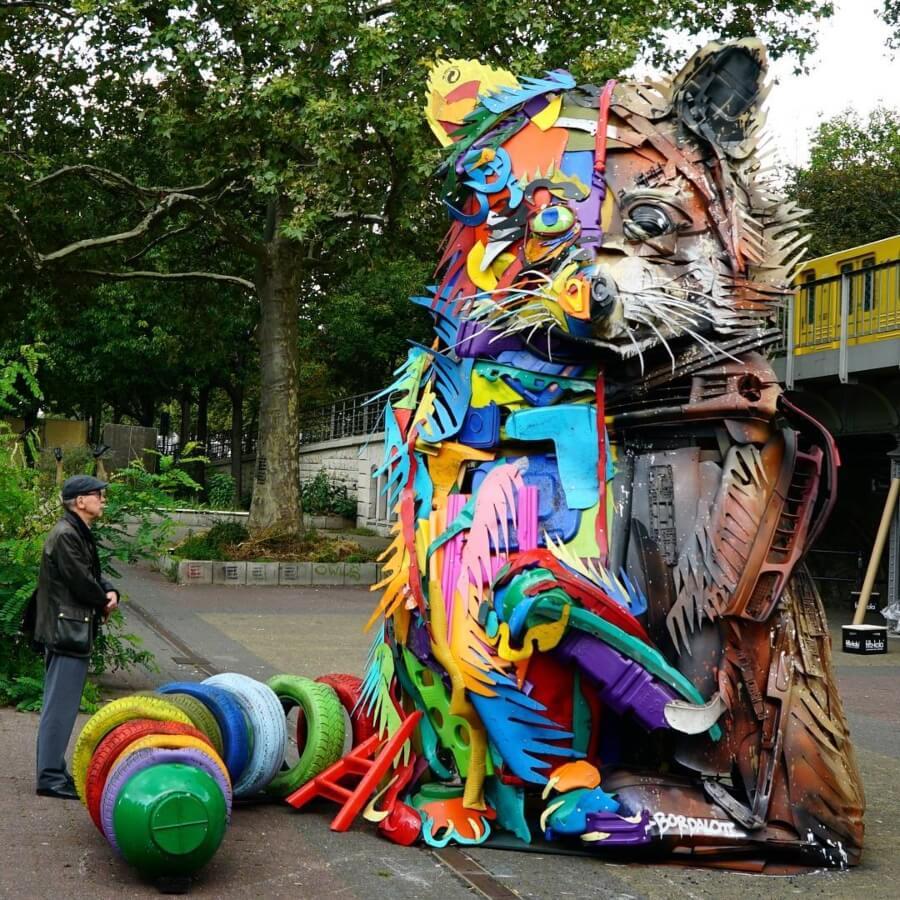 Bordalo II y su street art con basura