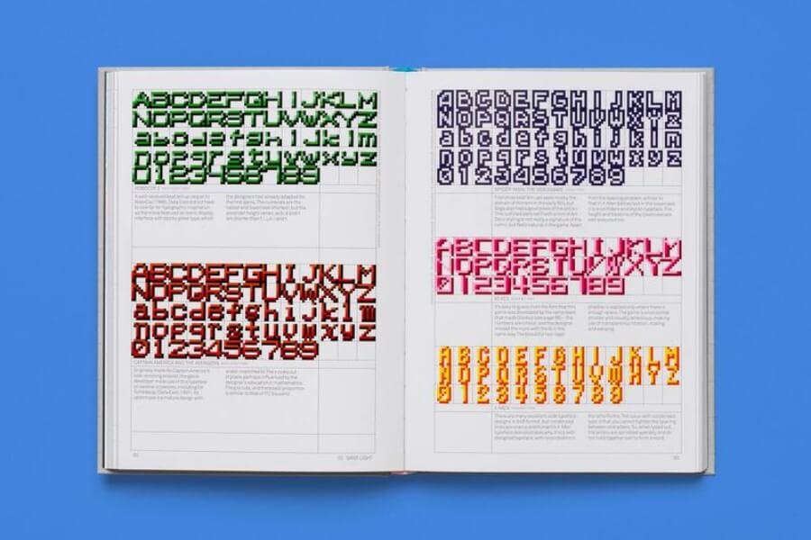 El libro de tipografía inspirado en los videojuegos retro