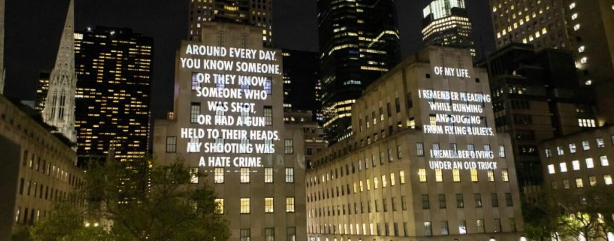 Jenny Holzer contra las armas en el Centro Rockefeller