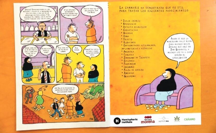 Jesusa Rodrígez promueve cómic de la marihuana