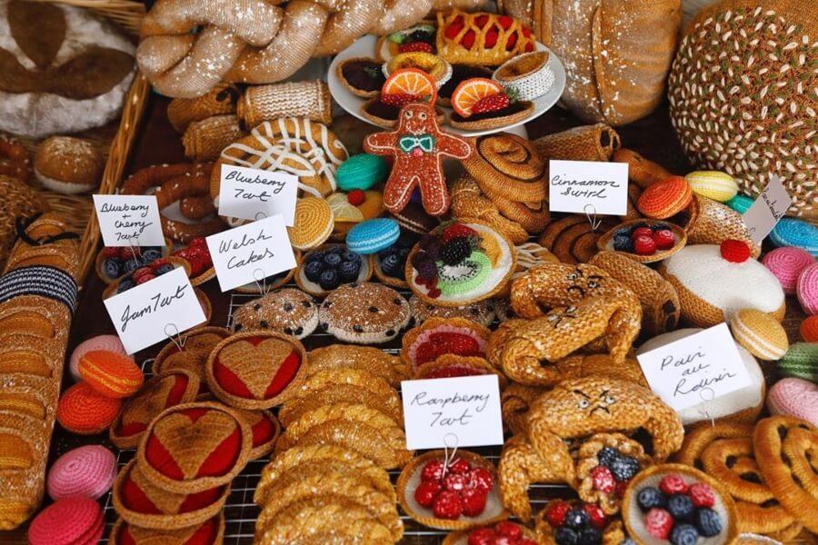 Kate Jenkins y su comida de crochet