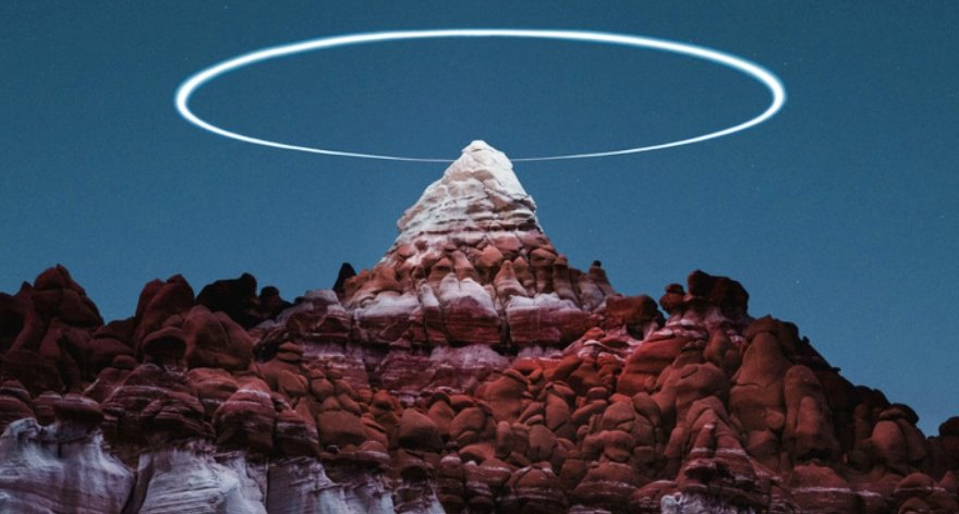 LED de drones iluminan paisajes en Bolivia