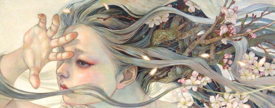 Miho Hirano y lo femenino de la naturaleza en su pintura