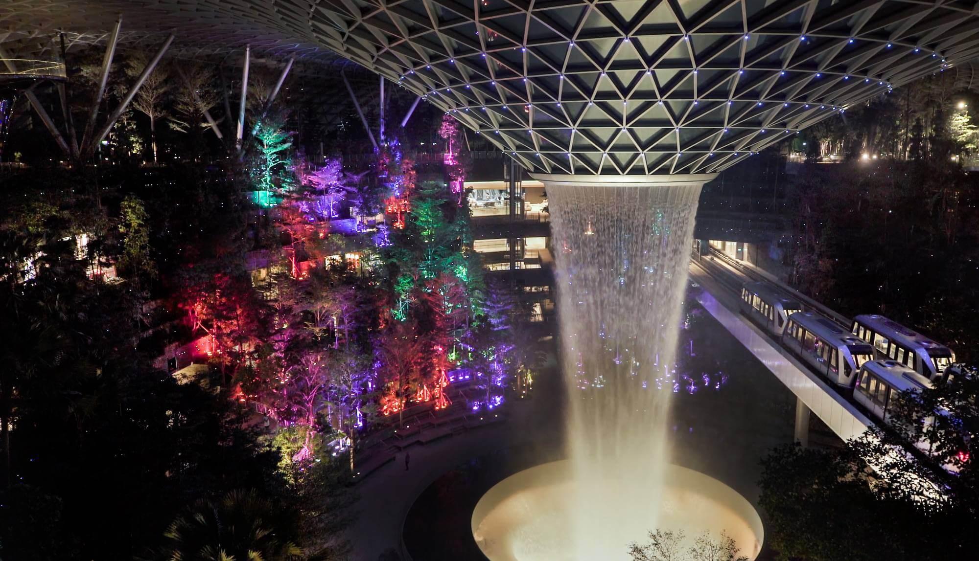 Instalación en el aeropuerto Changi en Singapore