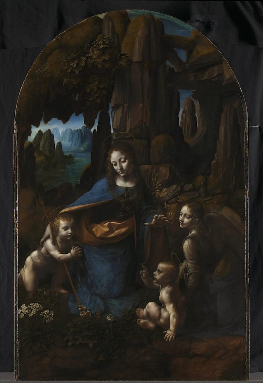 La Virgen de las Rocas de Da Vinci