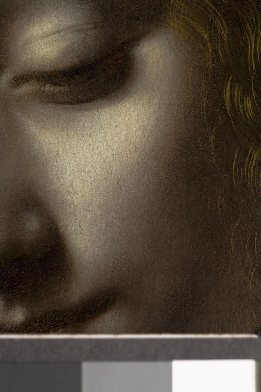 Huella dactilar en La Virgen de las Rocas de Da Vinci