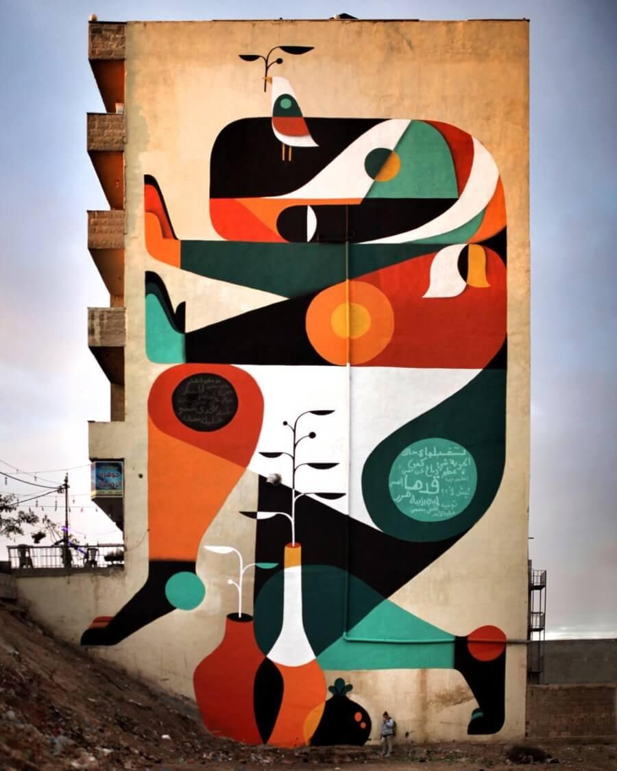 Mural en Jordania