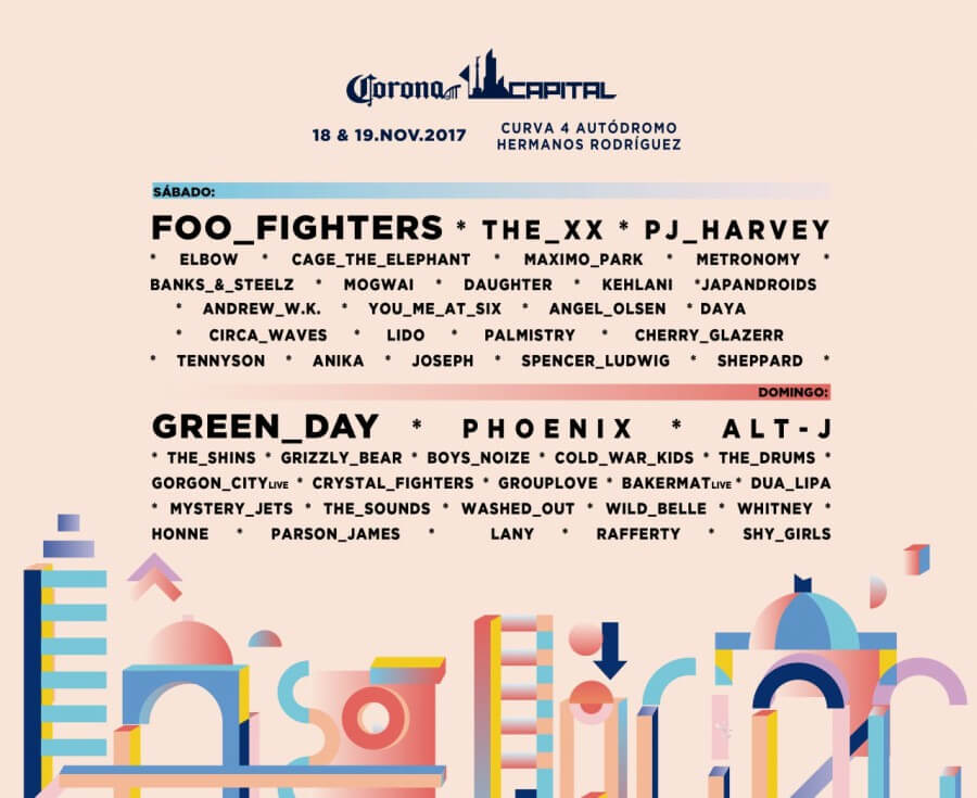 Cartel del Corona capital 2017