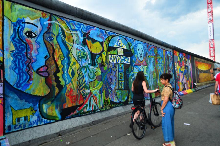Fotografía del Muro de Berlín en 2019