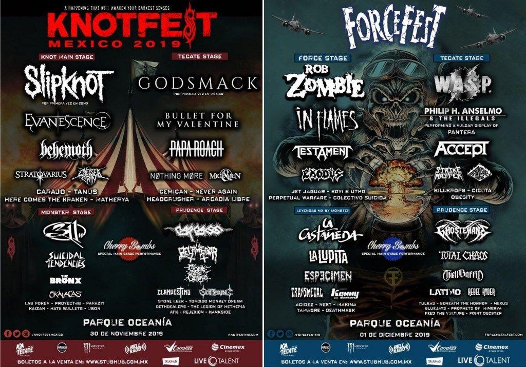 Knotfest y Foce Fest metal festival
