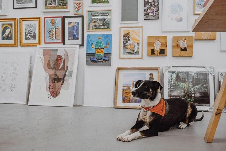 Obras de arte con perrito