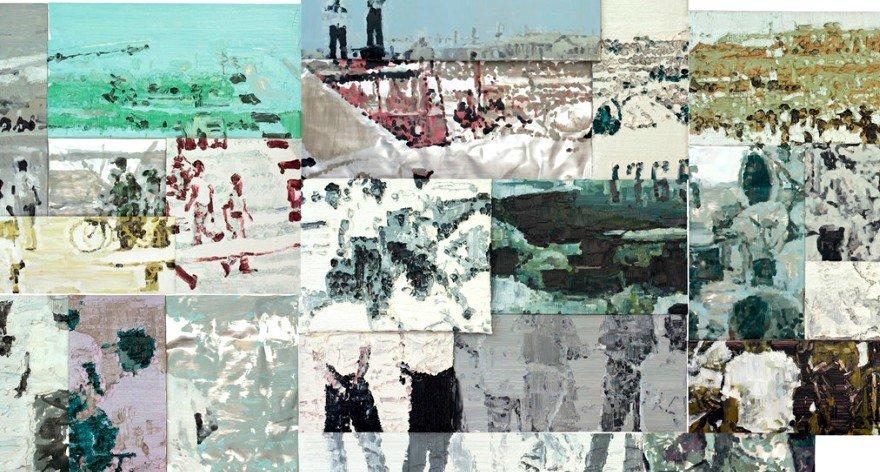 Li Songsong recrea sucesos históricos en sus pinturas