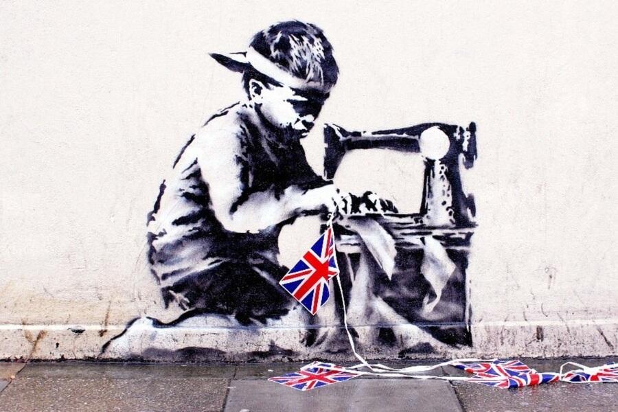 Se trata de uno de os murales más controvertidos de Banksy