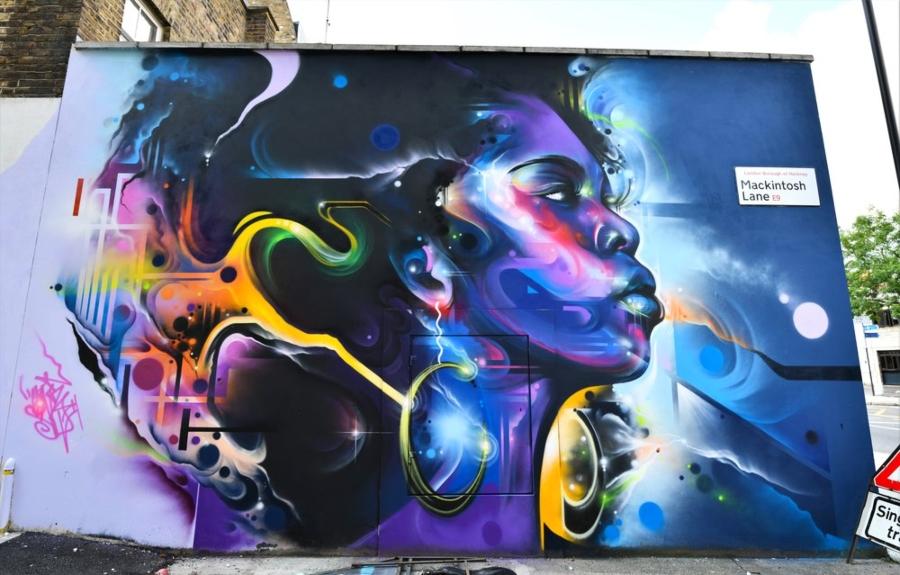 Mural del artista