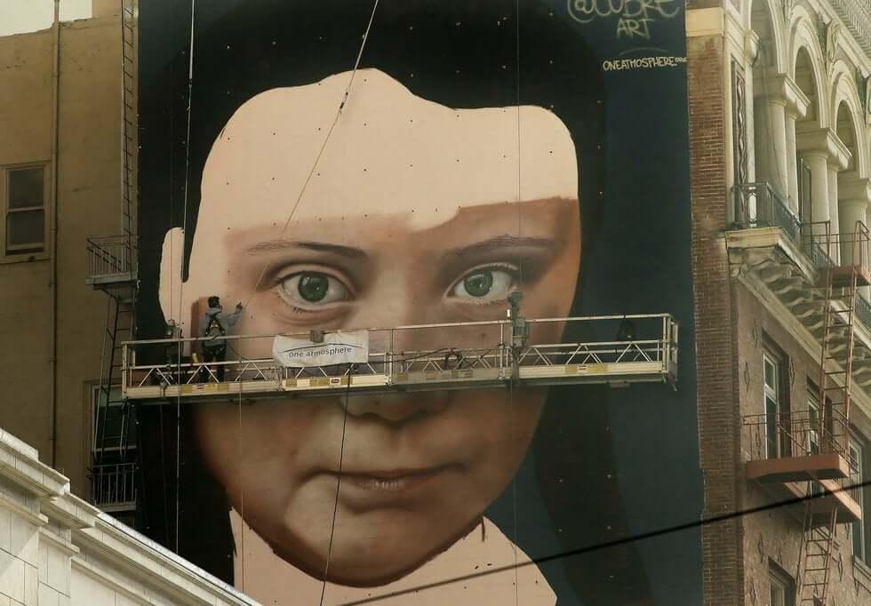mural de Greta Thunberg