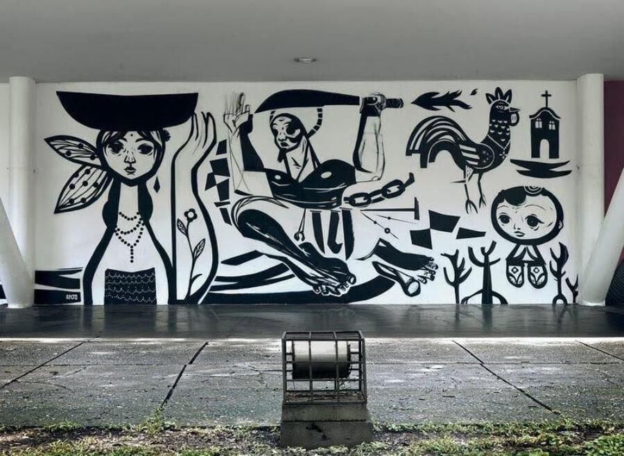 Pinturas del pionero del graffiti en Brasil