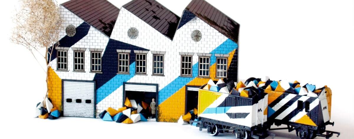 Street art miniatura en exposición Urban Miniatures