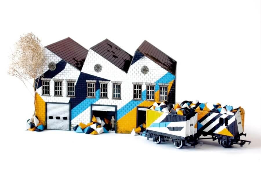 """Street arti en miniatura en la exposición """"Urban Miniatures"""""""