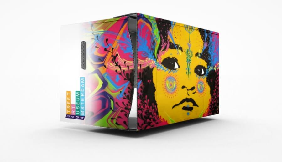 visor VR para el museo de street art
