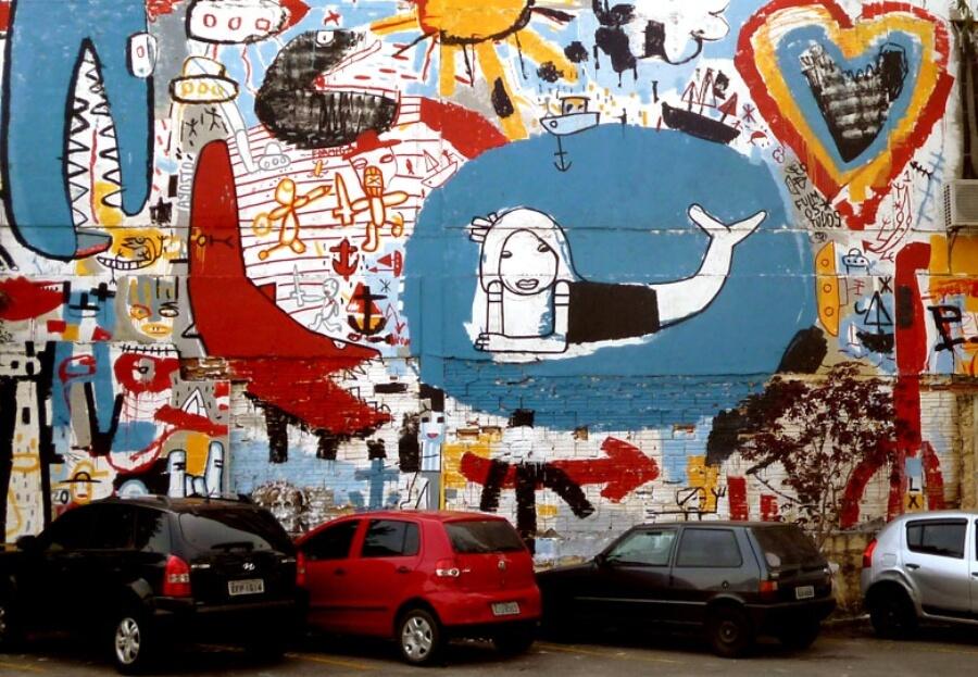 murales del artista argentino
