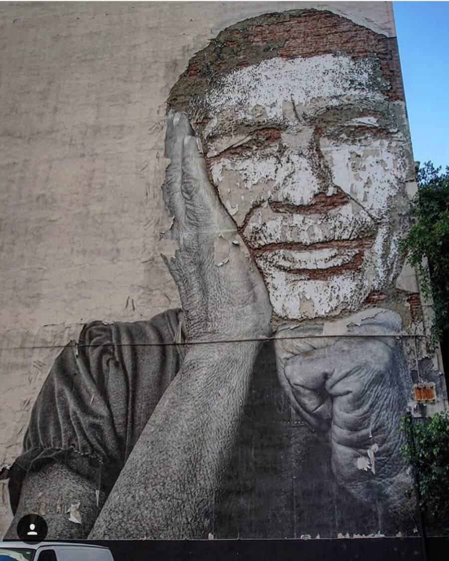 Mural de Vhils en Bangkok