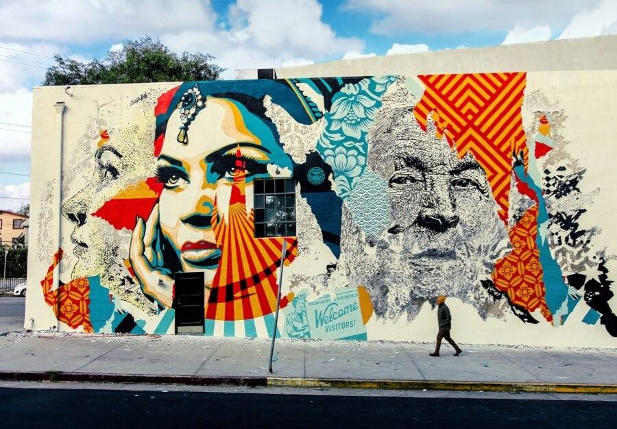 Mural colaborativo con OBEY