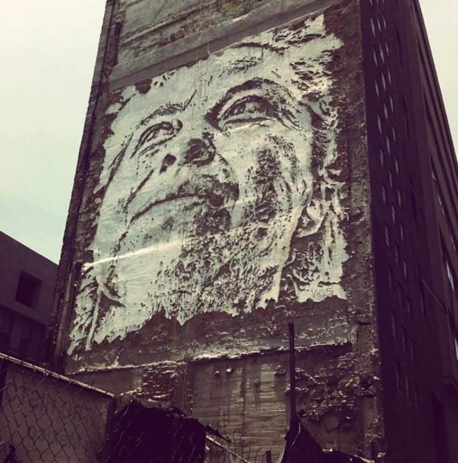 Mural de Vhils en CDMX