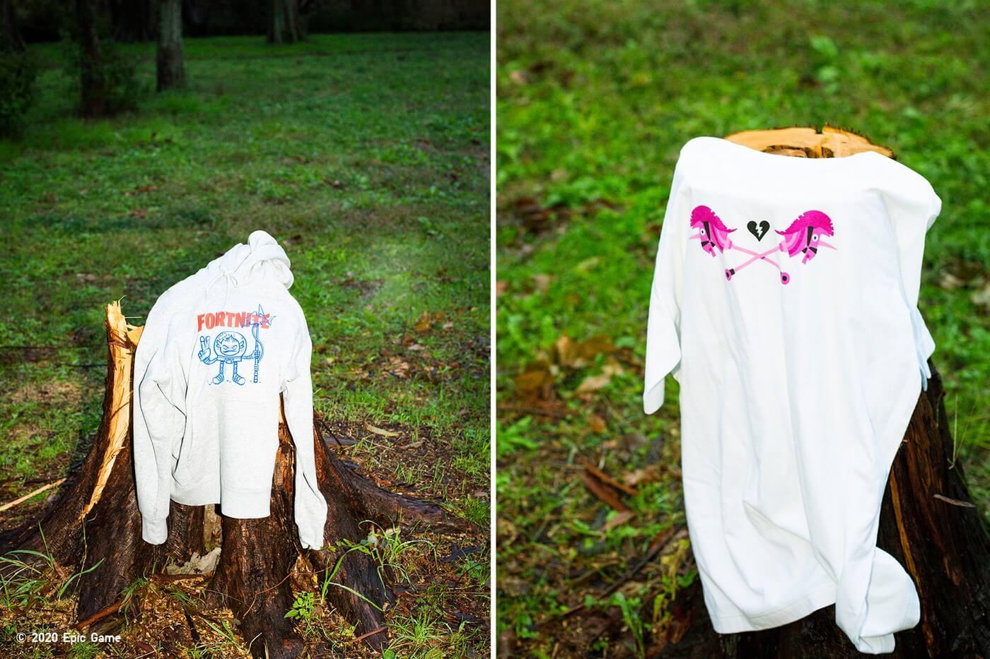 sudadera y camiseta de Fortnite x UNIQLO