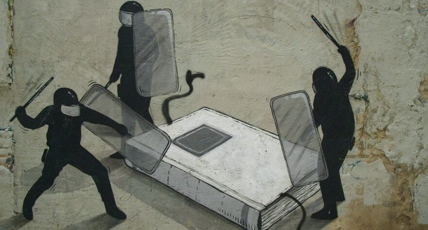 Escif, street art contestatario directo desde Valencia