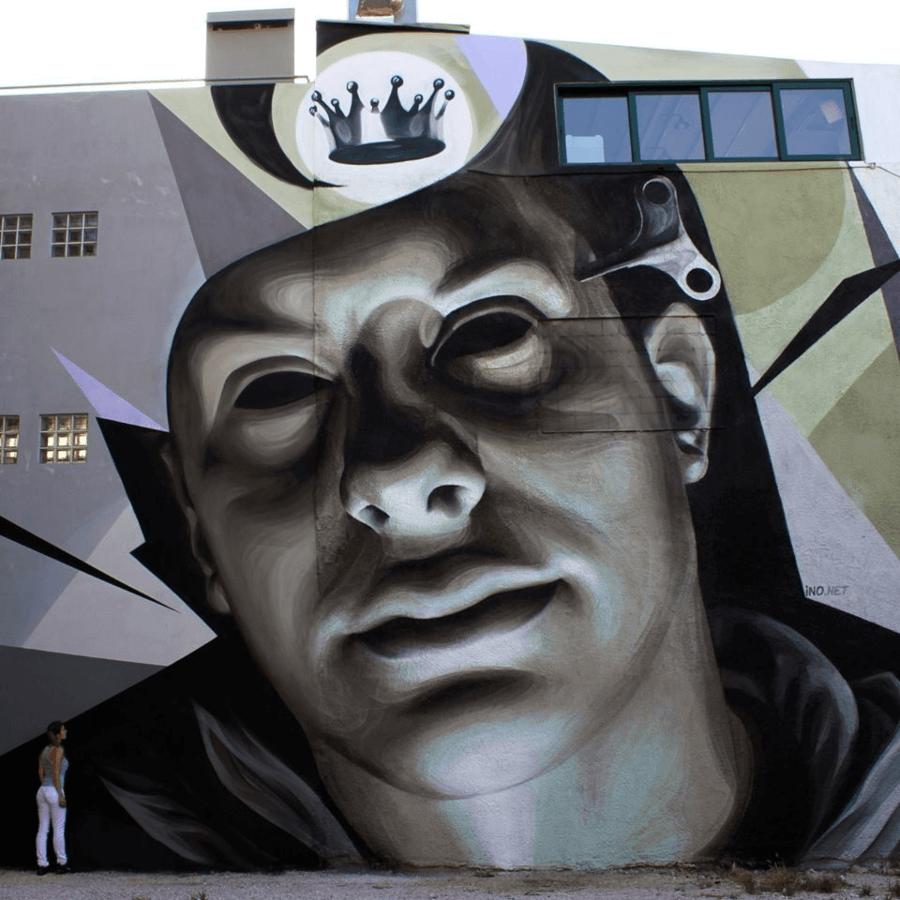 El artista griego es uno de los más activos del street art