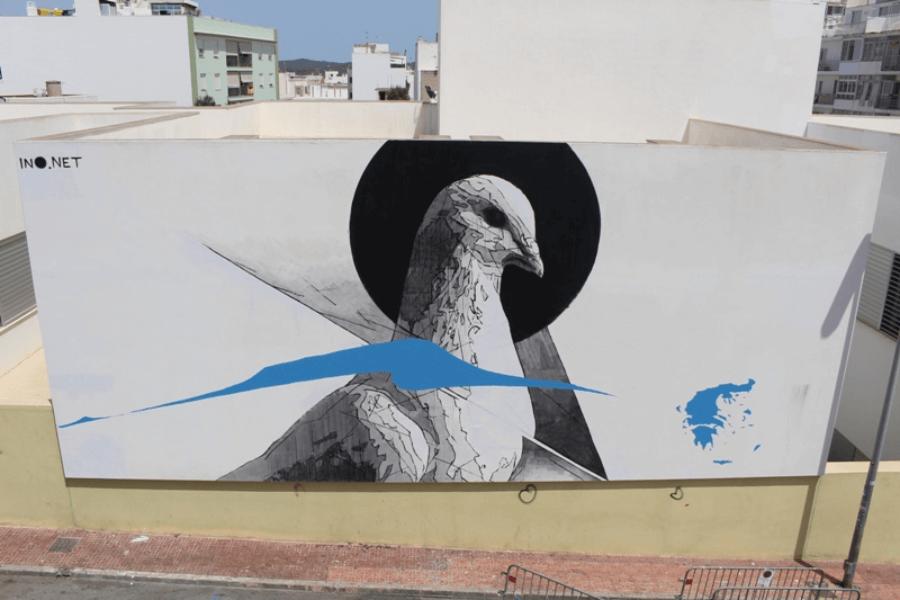 El artista griego es uno de los más activos en el street art