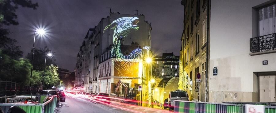Dinosaur installation lands on the streets of Paris