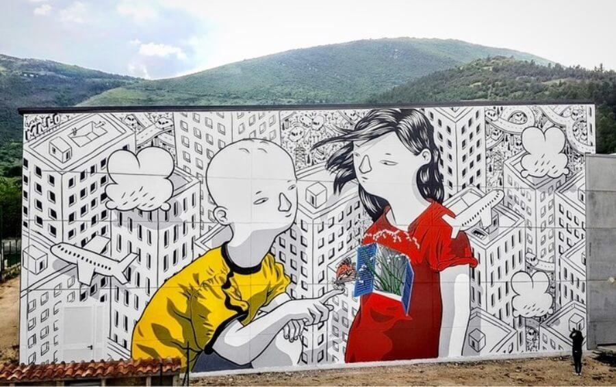 Mural por Millo en Junio