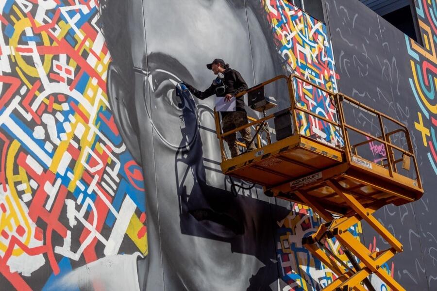 Nuevo mural que rinde tributo a Haring y Basquiat