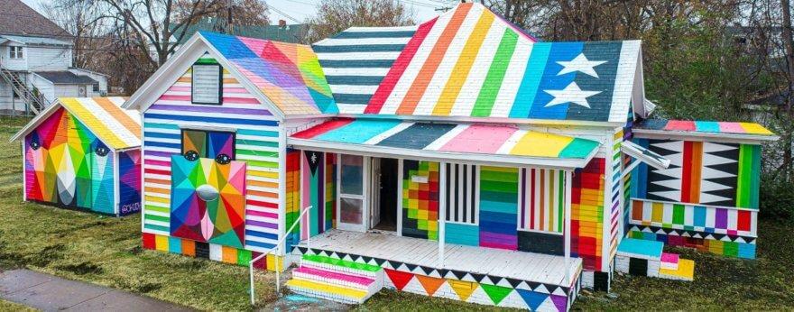 Okuda y JustKids presentan nueva pieza de arte urbano
