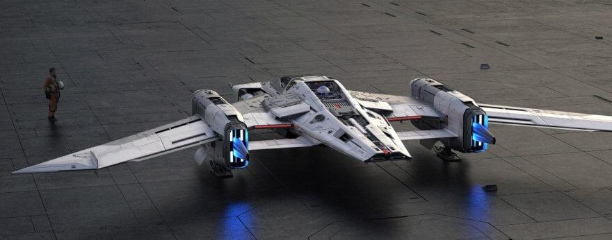 Porsche presenta nave espacial de Star Wars