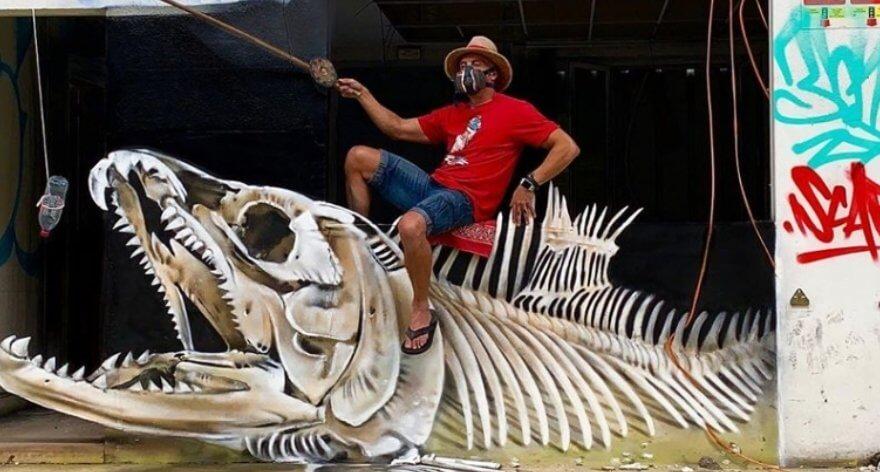 Scaf y sus portales de street art en 3D