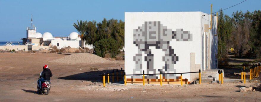 Invader instaló obras de Star Wars en Tunez