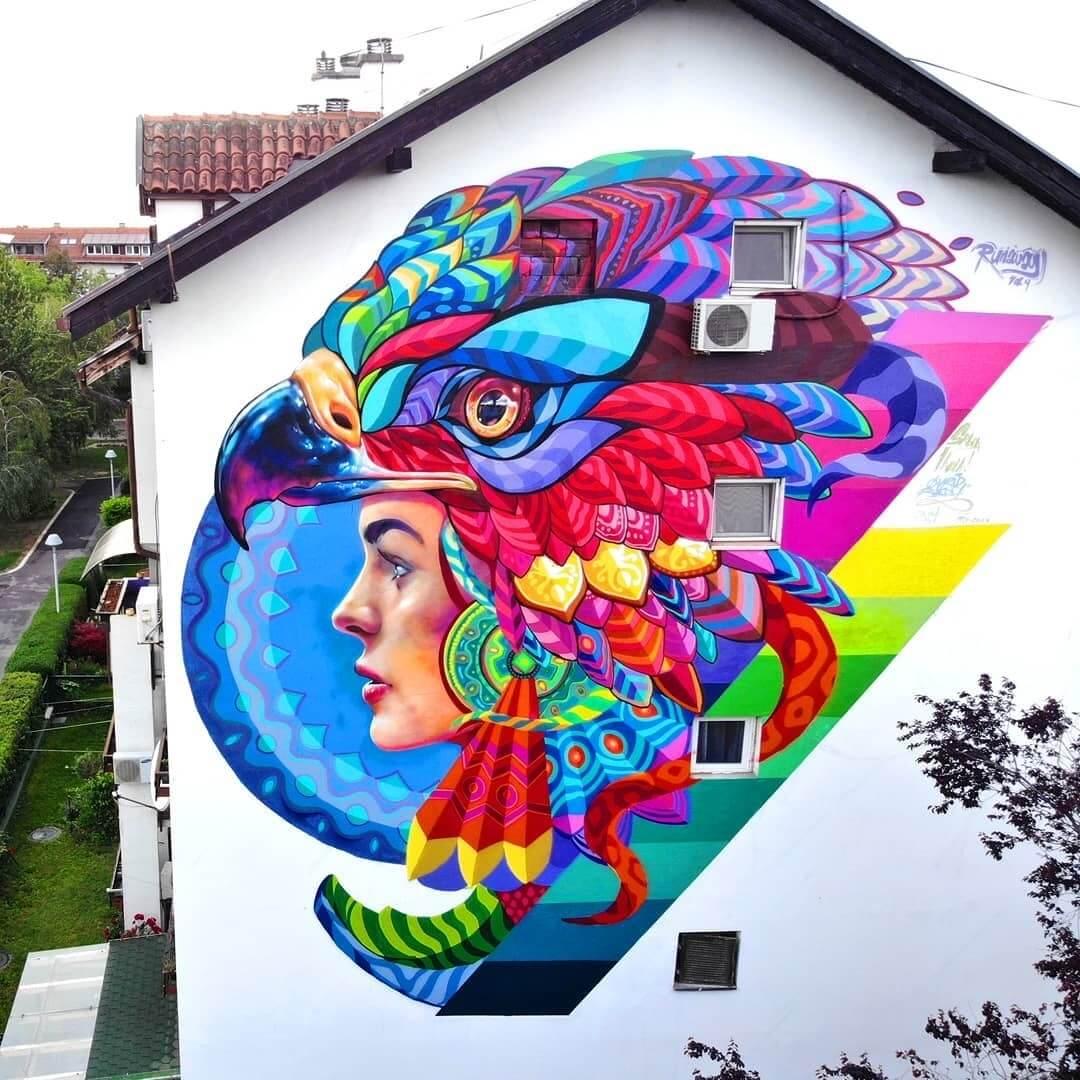 mural Hvala Srbija