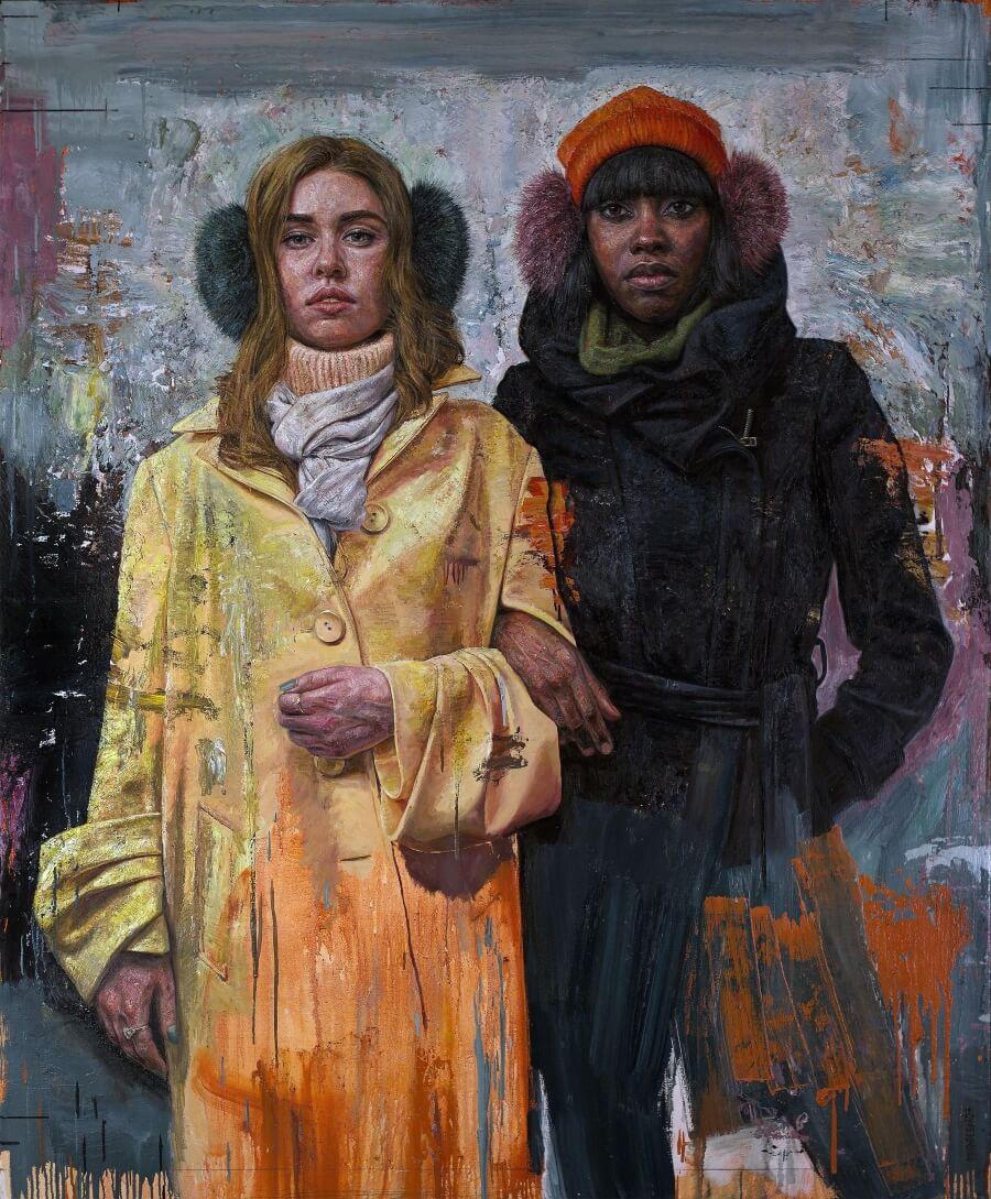 Tim Okamura representa el empoderamiento femenino en sus retratos