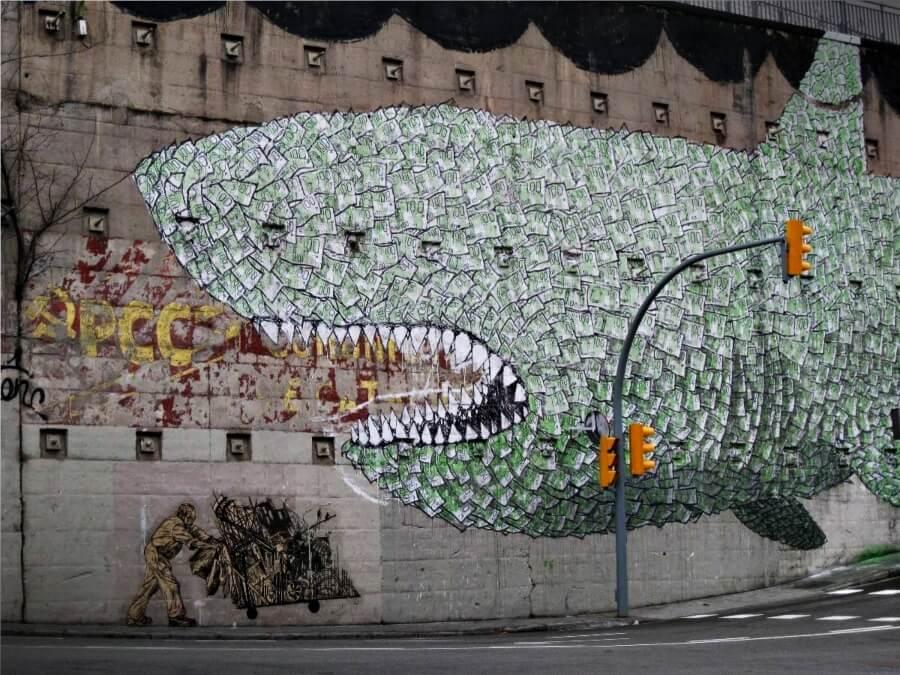 Blu, el street art contra la globalización y capitalismo