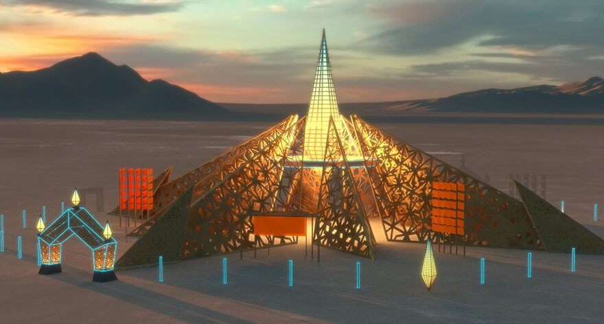 Burning Man 2020 sorprende con instalación «Empyrean»