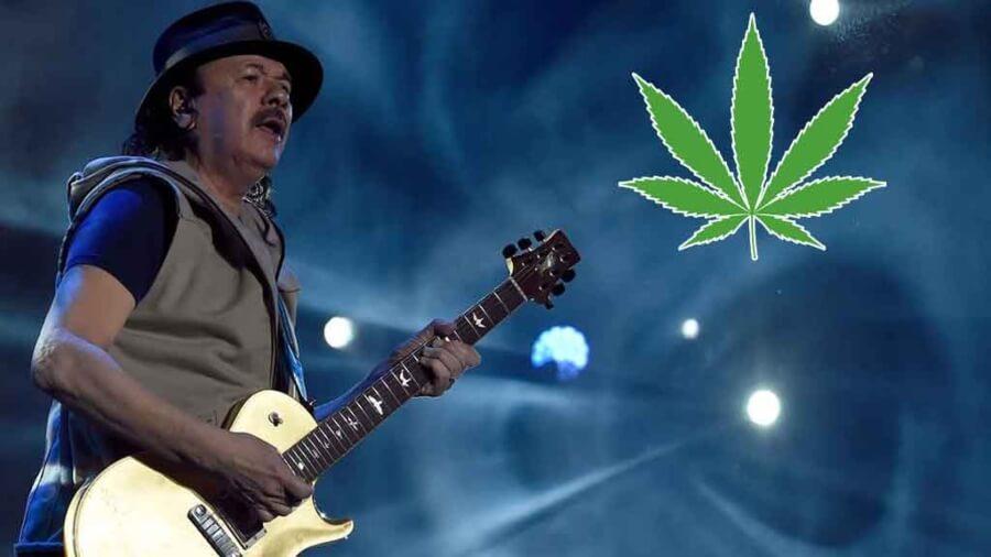Carlos Santana sacará a la venta productos de cannabis