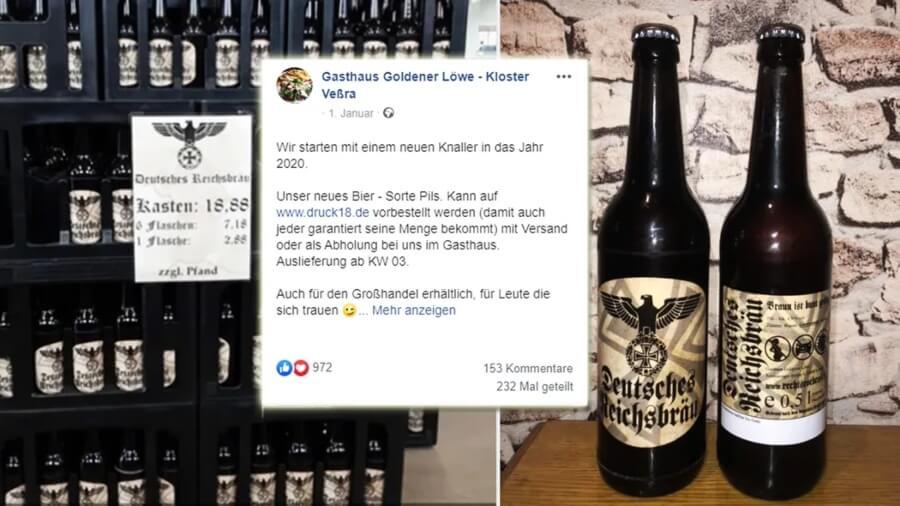 Cerveza con simbología nazi se vende en Alemania