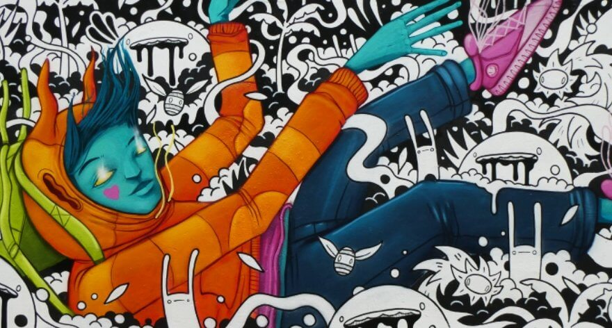 Choots, arte callejero psicodélico directo desde Londres